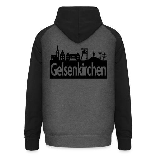 Skyline Gelsenkirchen - Männer T-Shirt klassisch - Unisex Baseball Hoodie