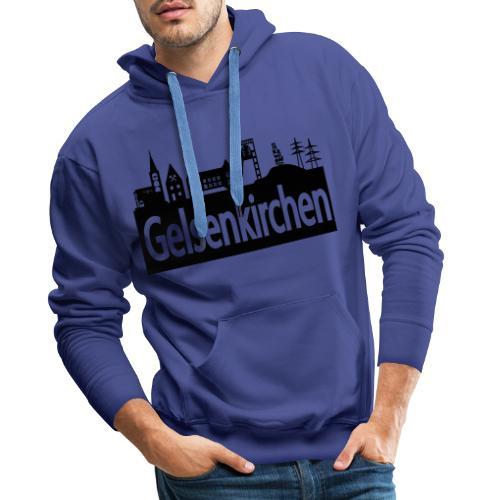 Skyline Gelsenkirchen - Männer T-Shirt klassisch - Männer Premium Hoodie