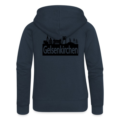 Skyline Gelsenkirchen - Männer T-Shirt klassisch - Frauen Premium Kapuzenjacke