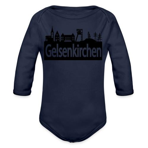 Skyline Gelsenkirchen - Männer T-Shirt klassisch - Baby Bio-Langarm-Body