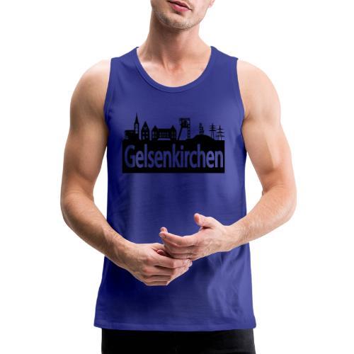 Skyline Gelsenkirchen - Männer T-Shirt klassisch - Männer Premium Tank Top