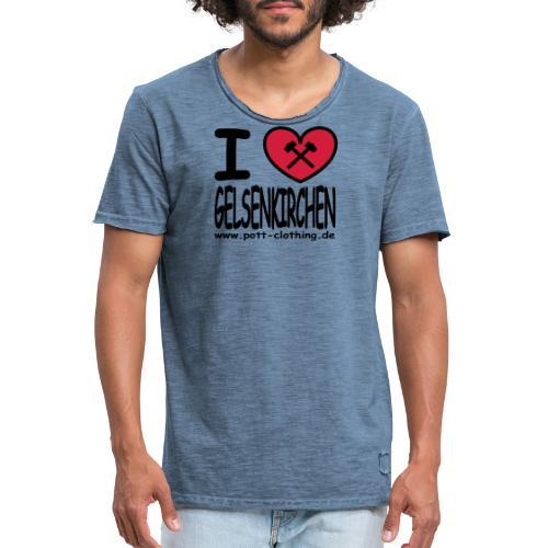 I love Gelsenkrichen - Hammer & Schlägel by Ruhrpott Clothing - T-Shirt klassisch - Männer Vintage T-Shirt