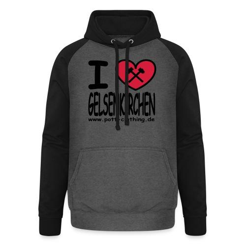 I love Gelsenkrichen - Hammer & Schlägel by Ruhrpott Clothing - T-Shirt klassisch - Unisex Baseball Hoodie