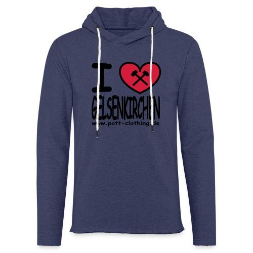 I love Gelsenkrichen - Hammer & Schlägel by Ruhrpott Clothing - T-Shirt klassisch - Leichtes Kapuzensweatshirt Unisex