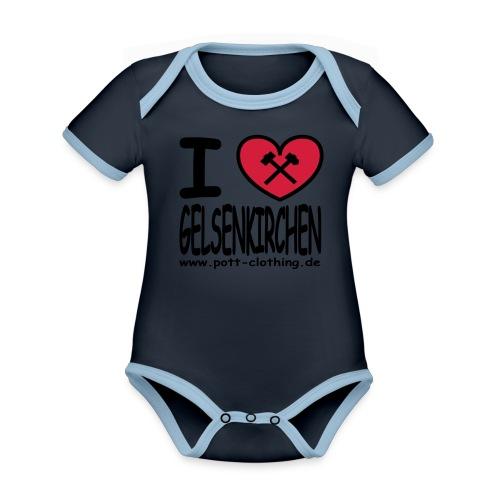 I love Gelsenkrichen - Hammer & Schlägel by Ruhrpott Clothing - T-Shirt klassisch - Baby Bio-Kurzarm-Kontrastbody