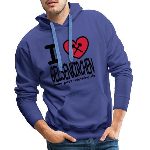 I love Gelsenkrichen - Hammer & Schlägel by Ruhrpott Clothing - T-Shirt klassisch - Männer Premium Hoodie