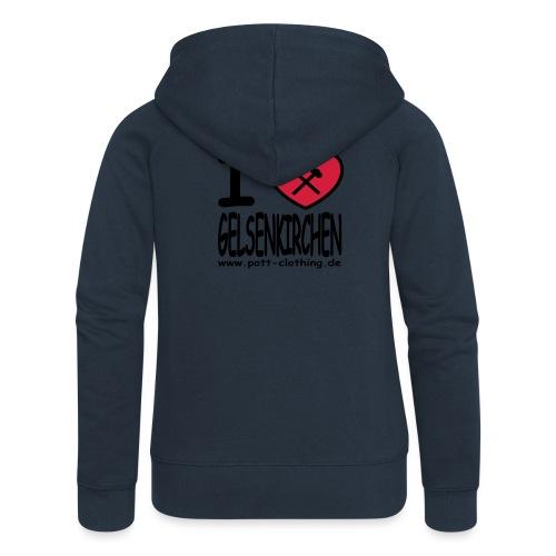 I love Gelsenkrichen - Hammer & Schlägel by Ruhrpott Clothing - T-Shirt klassisch - Frauen Premium Kapuzenjacke