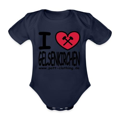 I love Gelsenkrichen - Hammer & Schlägel by Ruhrpott Clothing - T-Shirt klassisch - Baby Bio-Kurzarm-Body