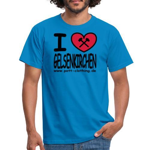 I love Gelsenkrichen - Hammer & Schlägel by Ruhrpott Clothing - T-Shirt klassisch - Männer T-Shirt