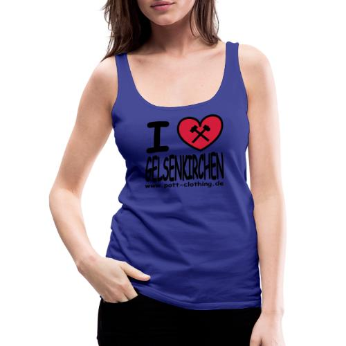 I love Gelsenkrichen - Hammer & Schlägel by Ruhrpott Clothing - T-Shirt klassisch - Frauen Premium Tank Top