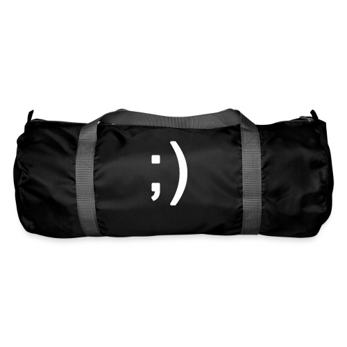 Winking smiley face in text - Duffel Bag