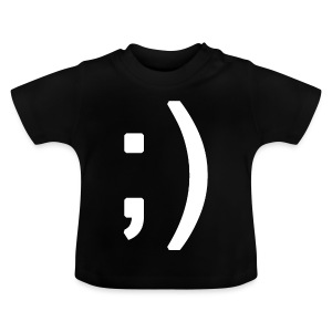 Winking smiley face in text - Baby T-Shirt
