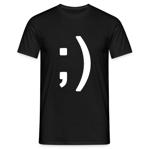 Winking smiley face in text - Men's T-Shirt