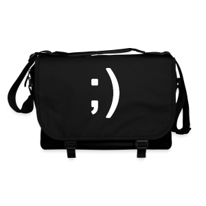 Winking smiley face in text - Shoulder Bag
