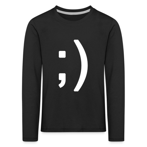 Winking smiley face in text - Kids' Premium Longsleeve Shirt