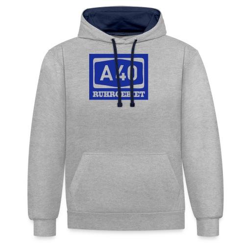 A40 - Ruhrgebiet - Männer klassischT-Shirt - Kontrast-Hoodie