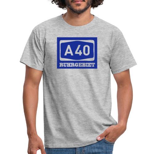 A40 - Ruhrgebiet - Männer klassischT-Shirt - Männer T-Shirt