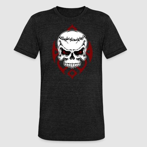 Totenkopf - Unisex Tri-Blend T-Shirt von Bella + Canvas