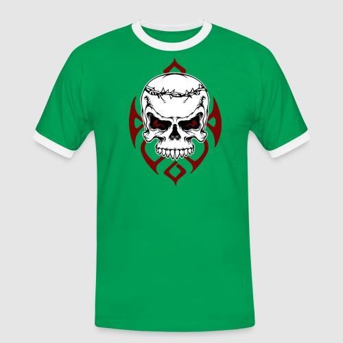 Totenkopf - Männer Kontrast-T-Shirt