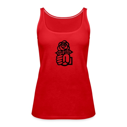 T-Shirt Juso Rose - Frauen Premium Tank Top