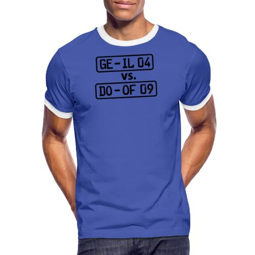 GE-IL 04 vs DO-OF 09 - Männer Kontrast-T-Shirt