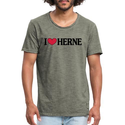 I ♥ love Herne - Männer T-Shirt klassisch - Männer Vintage T-Shirt