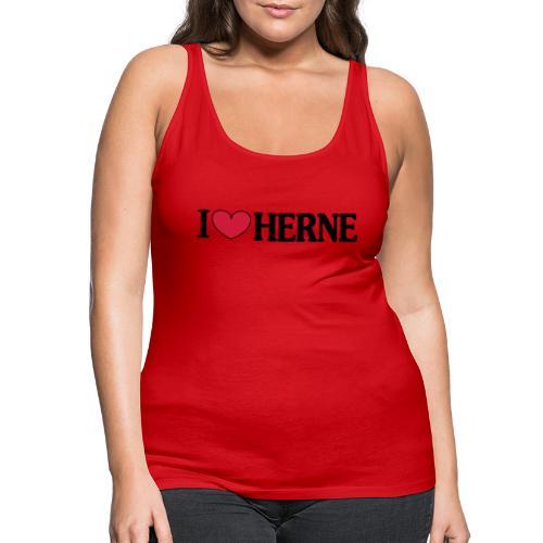 I ♥ love Herne - Männer T-Shirt klassisch - Frauen Premium Tank Top