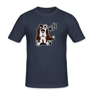 Wuff Wuff - Männer Slim Fit T-Shirt