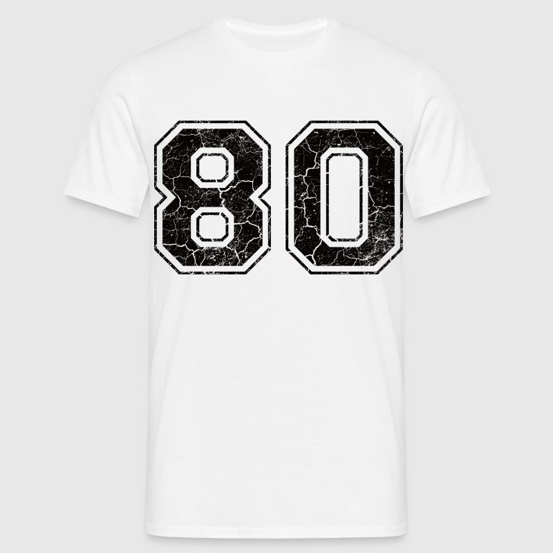 Number 80 in the grunge look T-Shirts - Men's T-Shirt