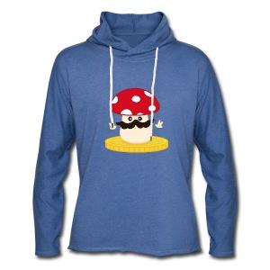 Champignon winner bleu - Sweat-shirt à capuche léger unisexe
