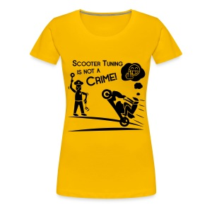 Scooter Tuning is not a Crime! FlexShirt HQ - Frauen Premium T-Shirt