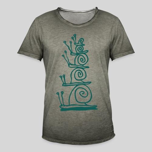 schnecken - Männer Vintage T-Shirt