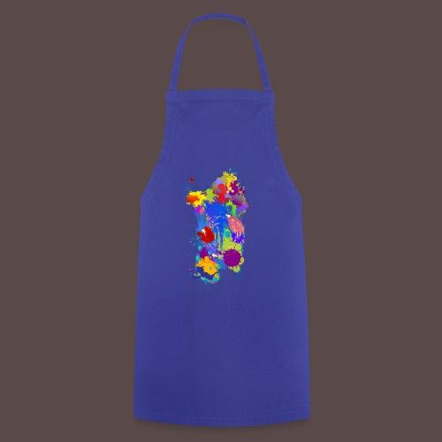 Sardegna, Silhouette Paint - donna - Grembiule da cucina