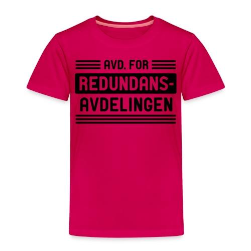 Avd. for redundans-avdelingen - Premium T-skjorte for barn