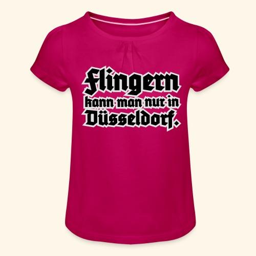 Flingern, Girlie - Mädchen-T-Shirt mit Raffungen