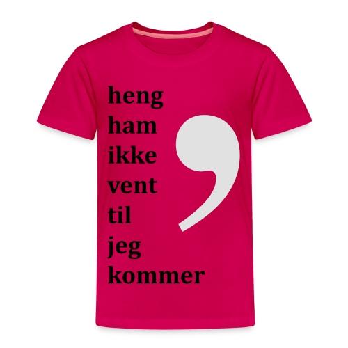 Komma dreper - Premium T-skjorte for barn