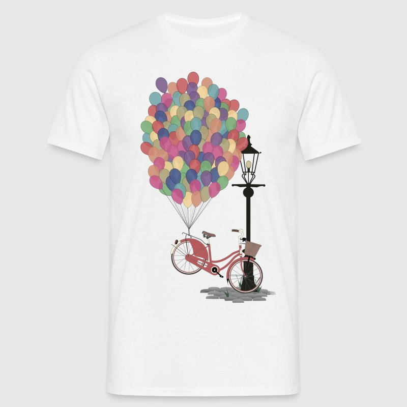 Love to Ride my Bike with Balloons T-Shirts - Men's T-Shirt