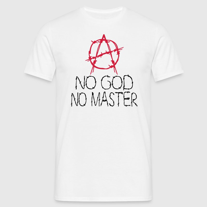 no god no master T-Shirts - Men's T-Shirt