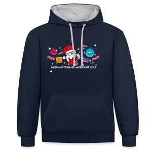 Damenshirt Weihnachtskugelworkshop - Kontrast-Hoodie