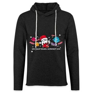 Damenshirt Weihnachtskugelworkshop - Leichtes Kapuzensweatshirt Unisex