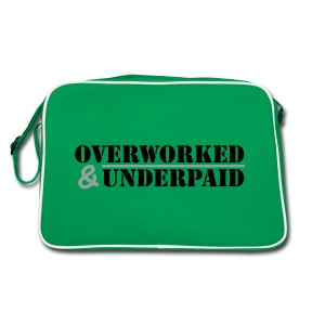 Overworked & Underpaid - Retro Bag