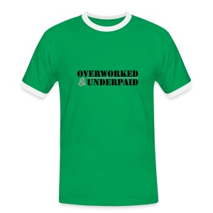 Overworked & Underpaid - Men's Ringer Shirt