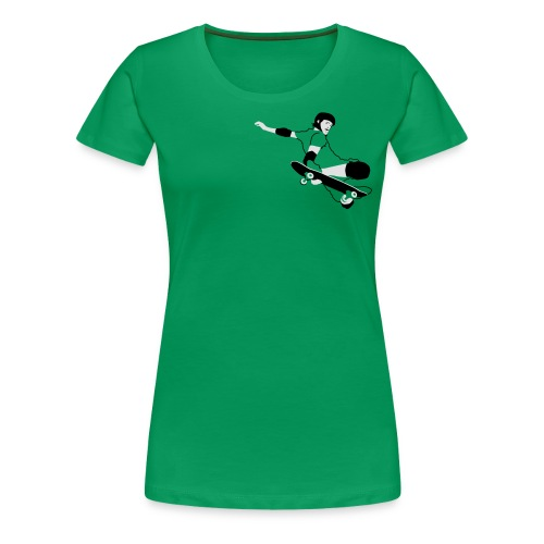 Skateboarder Trick im Sprung - Frauen Premium T-Shirt