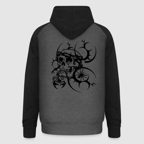 Herren Totenkopf T-Shirt - Unisex Baseball Hoodie
