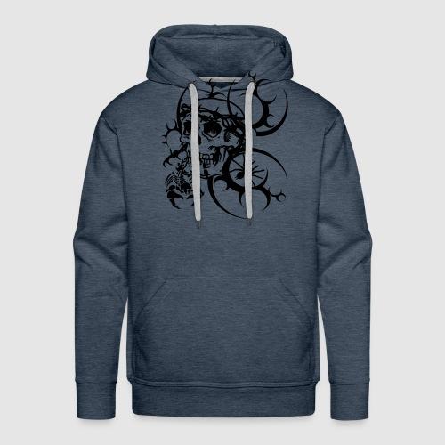 Herren Totenkopf T-Shirt - Männer Premium Hoodie