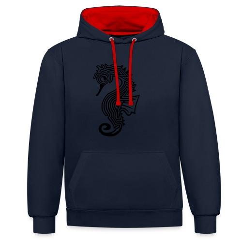 shirt seepferdchen - Kontrast-Hoodie
