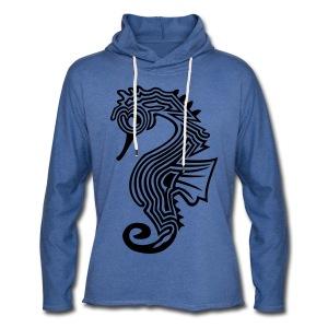 shirt seepferdchen - Leichtes Kapuzensweatshirt Unisex