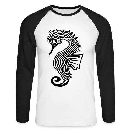 shirt seepferdchen - Männer Baseballshirt langarm