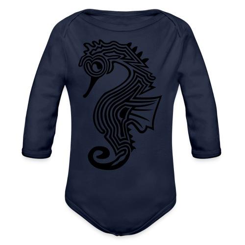 shirt seepferdchen - Baby Bio-Langarm-Body