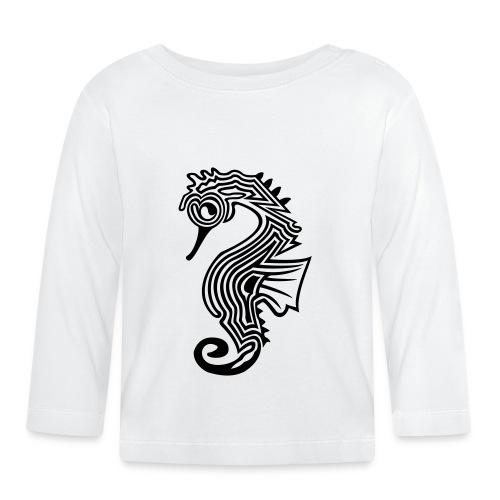 shirt seepferdchen - Baby Langarmshirt